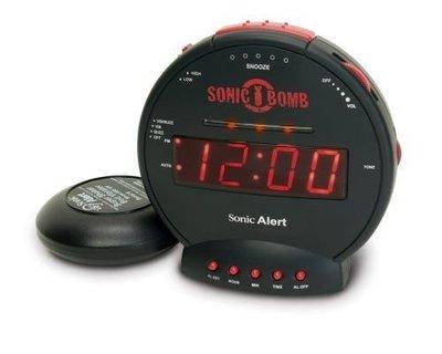 【WowLook】美國原裝 Sonic Boom SBB500ss「爆響+震動」鬧鐘 Alert 音波炸彈