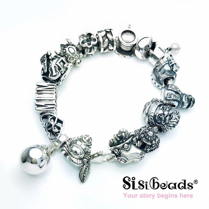 Sisibeads 純銀手鍊 適PANDORA潘朵拉 哥德狂潮 率性刻印 純銀珠飾 串珠
