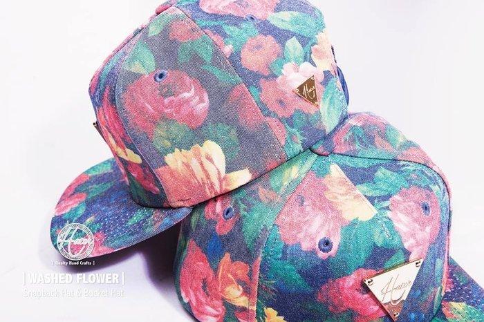 [ RENEXO ] HATer WASHED FLOWER Snapback Hat 花花 滿版 牛仔布 棒球帽