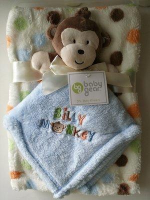 【美國品牌】100%全新正品 嬰幼兒 輕柔舒眠 極柔絨毯/ 毛毯/ 抱毯/ 萬用毯 冷氣房可用 彌月禮 二件組BAB05