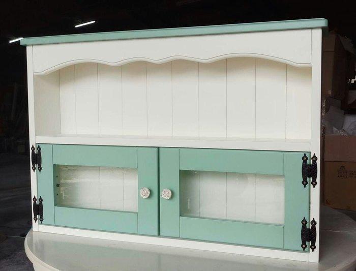 美生活館 鄉村傢俱訂製 客製化 全紐松原木 雙色雙門壁櫃 收納櫃 置物櫃 桌上櫃 也可修改尺寸顏色再報價