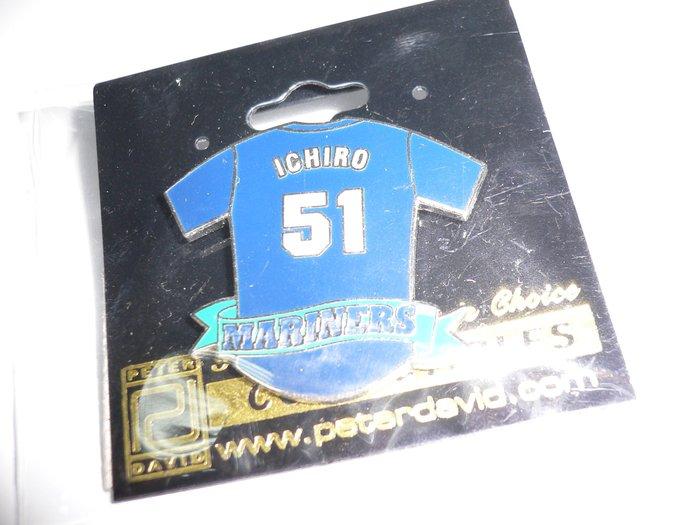 貳拾肆棒球--日本帶回美國大聯盟MLB西雅圖水手鈴木一朗ICHIRO紀念徽章