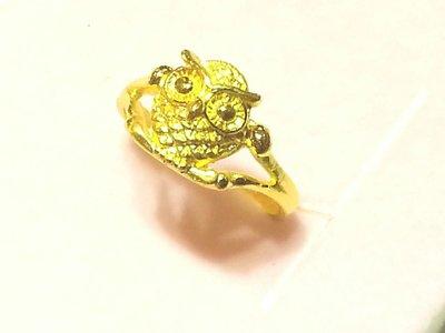 small-@金品,纯金猫头鹰戒指、情人节、黄金、金饰,纯金9999,1.22钱,免运费