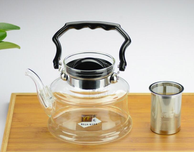 玻璃可提煮水壺,泡茶耐熱茶具,大容量可明火加熱茶壺-南美