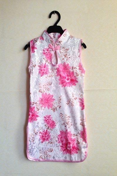 特價 (現貨)~中國風~~水滴領花朵小旗袍