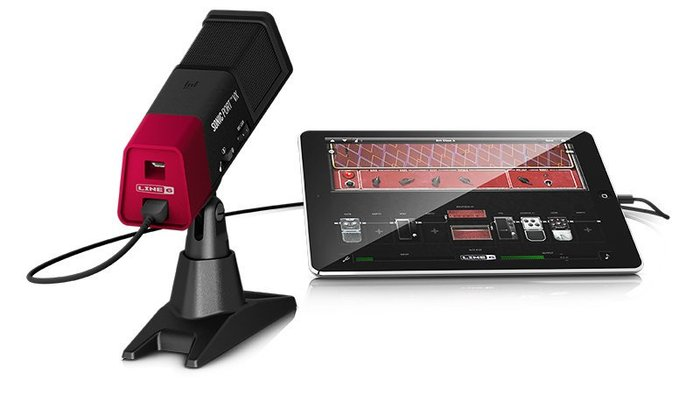 【六絃樂器】全新 Line 6 SONIC PORT VX 錄音介面 內建電容式麥克風 ipod iphone ipad