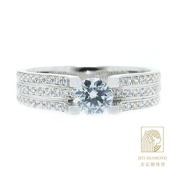 【JHT 金宏總珠寶/GIA專賣】婚戒/鑽戒 女鑽石戒台 (不含搭配主鑽)JRM034