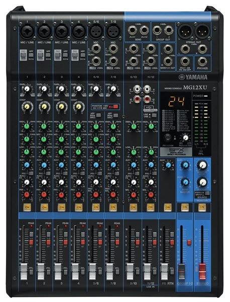 【六絃樂器】全新 Yamaha MG12XU 混音器 內建SPX效果 附USB功能 / 舞台音響設備 專業PA器材