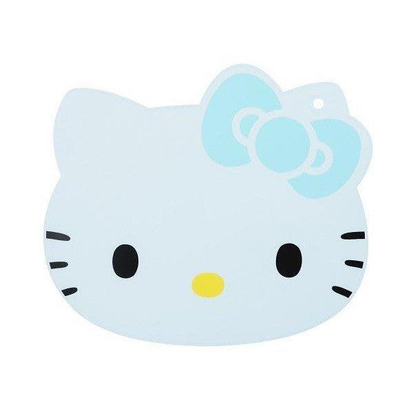 HELLO KITTY 砧板(頭型.藍) ,廚房/廚具架/廚房雜貨