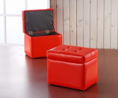 【家具先生】SC-001-RD  沙發收納椅凳(紅色)