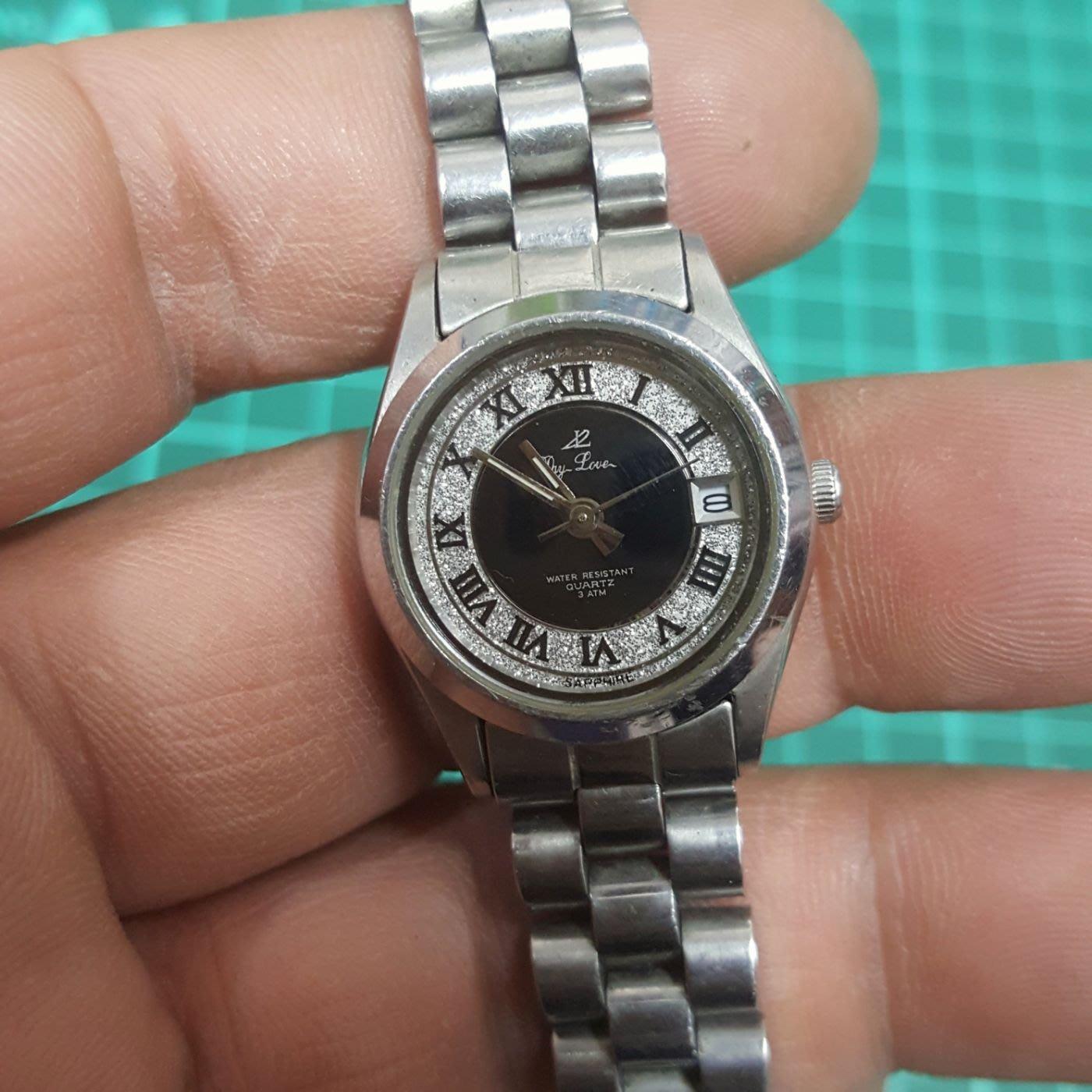 蠔式女錶 行走中 水晶玻全不鏽鋼 實心錶帶 非 OMEGA LV CK SEIKO ORIENT CITIZEN S10