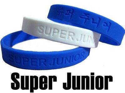 ☆追星☆ 9-15凹刻版(二色可選)Super Junior韓文 果凍手環(1條)SJ矽膠手環 明星週邊 飾品