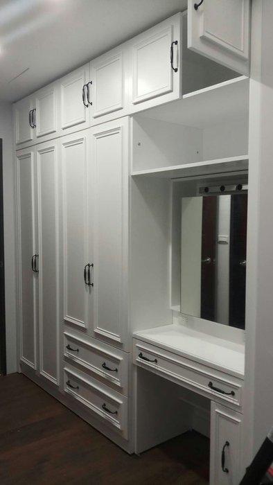 美生活館 美式鄉村家具訂製 客製化 系統式 衣櫃 衣櫥(含鏡台)  工廠施工現場組合 可修改尺寸顏色再報價