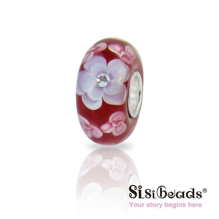 Sisibeads 純銀手鍊 適PANDORA 潘朵拉 Beads純銀珠飾 晶鑽彩繪琉璃