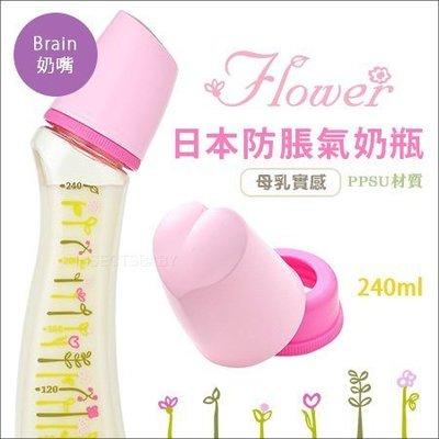 ✿蟲寶寶✿【日本Dr.Betta】日本製 新款夢幻小花 防脹氣奶瓶 PPSU材質 Brain - SF4 240ml