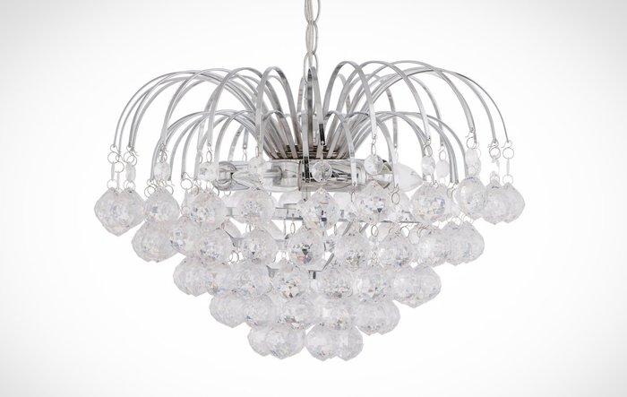 鍍鉻網狀透明壓克力珠吸吊兩用燈-BNL00063