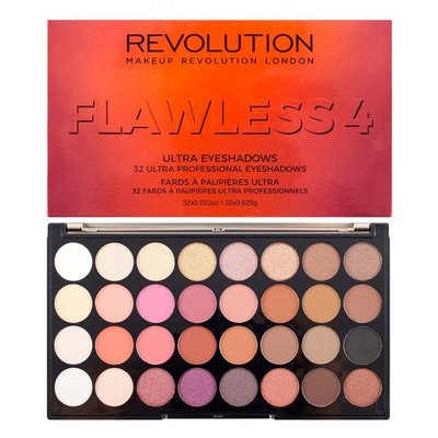 【愛來客 】英國Makeup Revolution Ultra Eyeshadow Palette 4 32色眼影盤