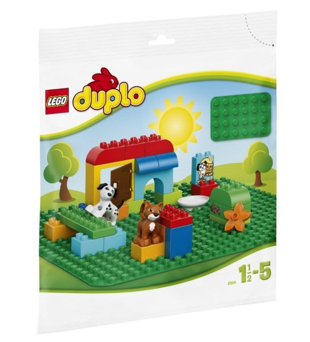 現貨 可超取【LEGO 樂高 得寶 duplo】全新正品 綠色大底板 (38x38cm) 2304【1.5~5歲】