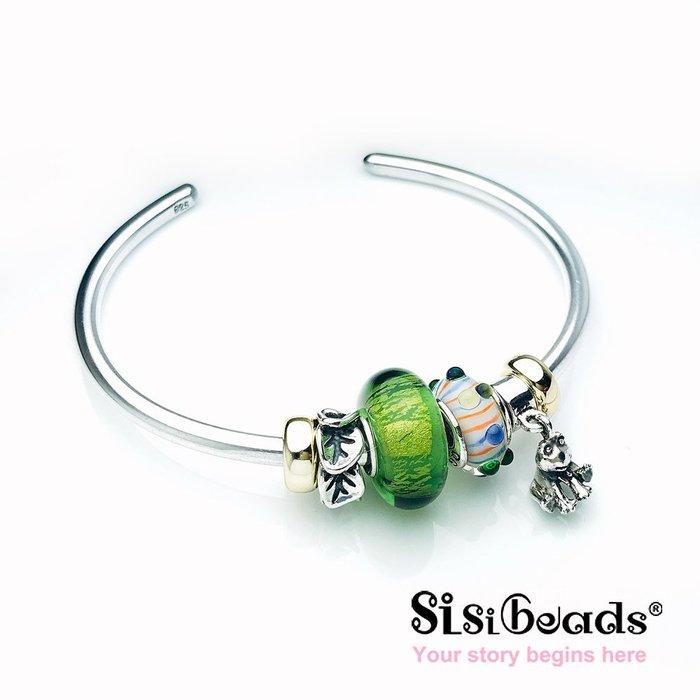 Sisibeads故事輕珠寶 Gripper 純銀珠飾 鍍金 素面固定珠飾 不含手鍊 荷蘭