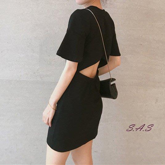純色露腰洋裝 後露背心機洋裝 露腰洋裝 性感洋裝 女神洋裝 素色洋裝 連身裙 露背連衣裙