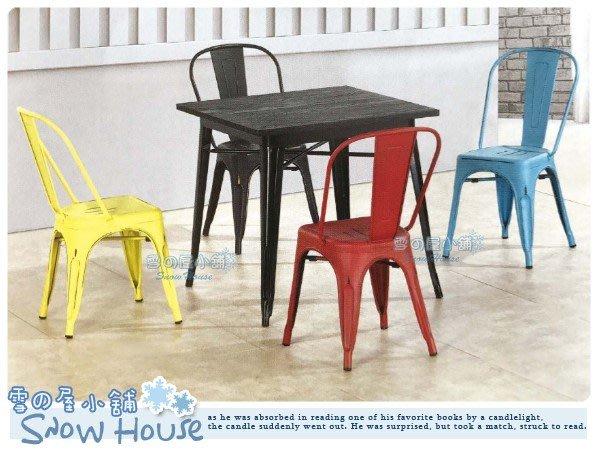 ╭☆雪之屋居家生活館☆╯R585-06 工業風餐桌(鐵腳/榆木面)/ 餐桌/ 咖啡桌/ 休閒桌/ 不含椅子