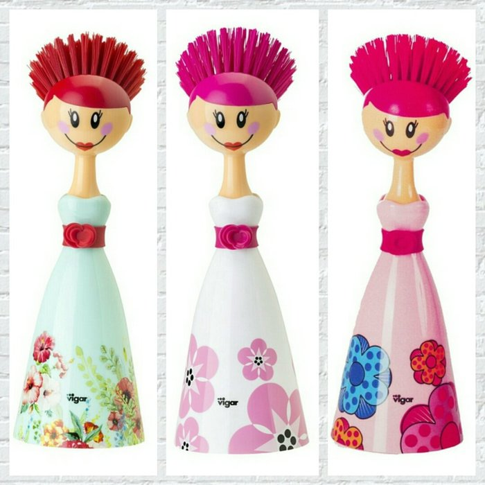 西班牙品牌Vigar手持式兩件式晚禮服娃娃鍋刷【 蘇菲亞精品傢飾】