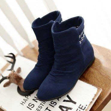 yes99buy加盟-內增高水鑽短筒女靴