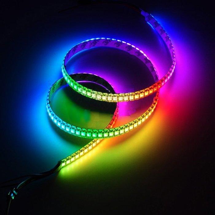 新型LED幻彩全彩軟燈條 滴膠防水 一米60燈1燈1組 每一顆燈都可以單點控制 更勝於七彩燈 更優於3或5顆燈一起控制