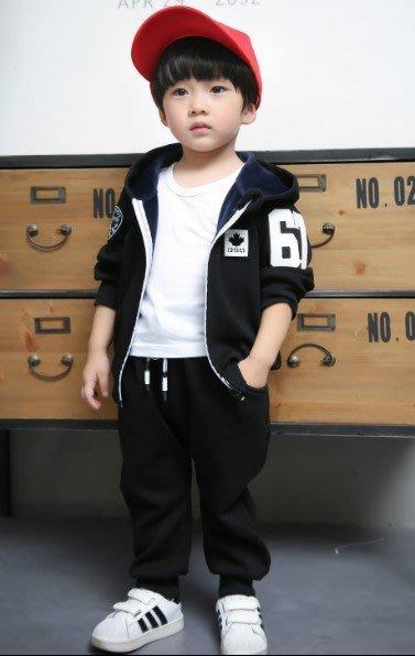 【現貨+預購I】冬款韓版中小童套裝67加絨拉鍊帽衫兩件套