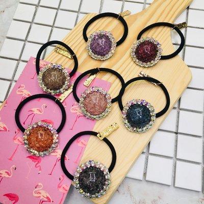 現貨 供應 茉莉 正韓 質感 髮飾 韓國 飾品 七色 非常美 寶石 水鑽 髮束