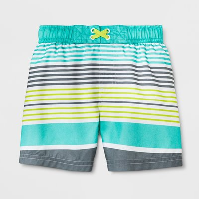 🇺🇸美國進口・知名百貨品牌・男孩 海灘褲泳褲~高係數防曬 抗UV  [ 經典條紋 ](2~5歲)