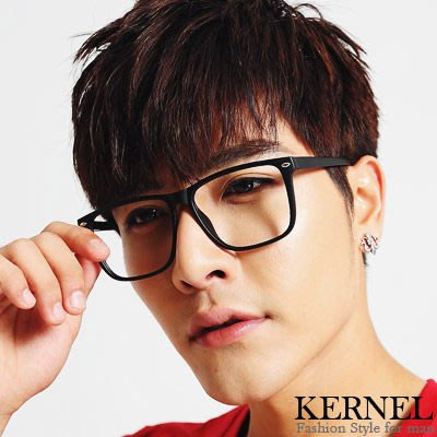 【DD3-BE9052】韓流方型銀點平光眼鏡