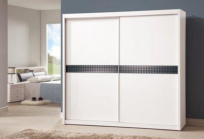 【DH】商品貨號v366-2A商品名稱《桃樂絲》7尺白衣櫃。備有五尺(另有胡桃色)經典雅緻。主要地區免運費