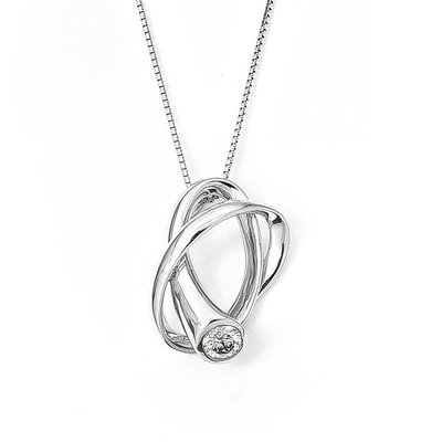 【JHT 金宏總珠寶/GIA鑽石專賣】0.32克拉天然鑽石項鍊/材質:PT/(JB40-A52)