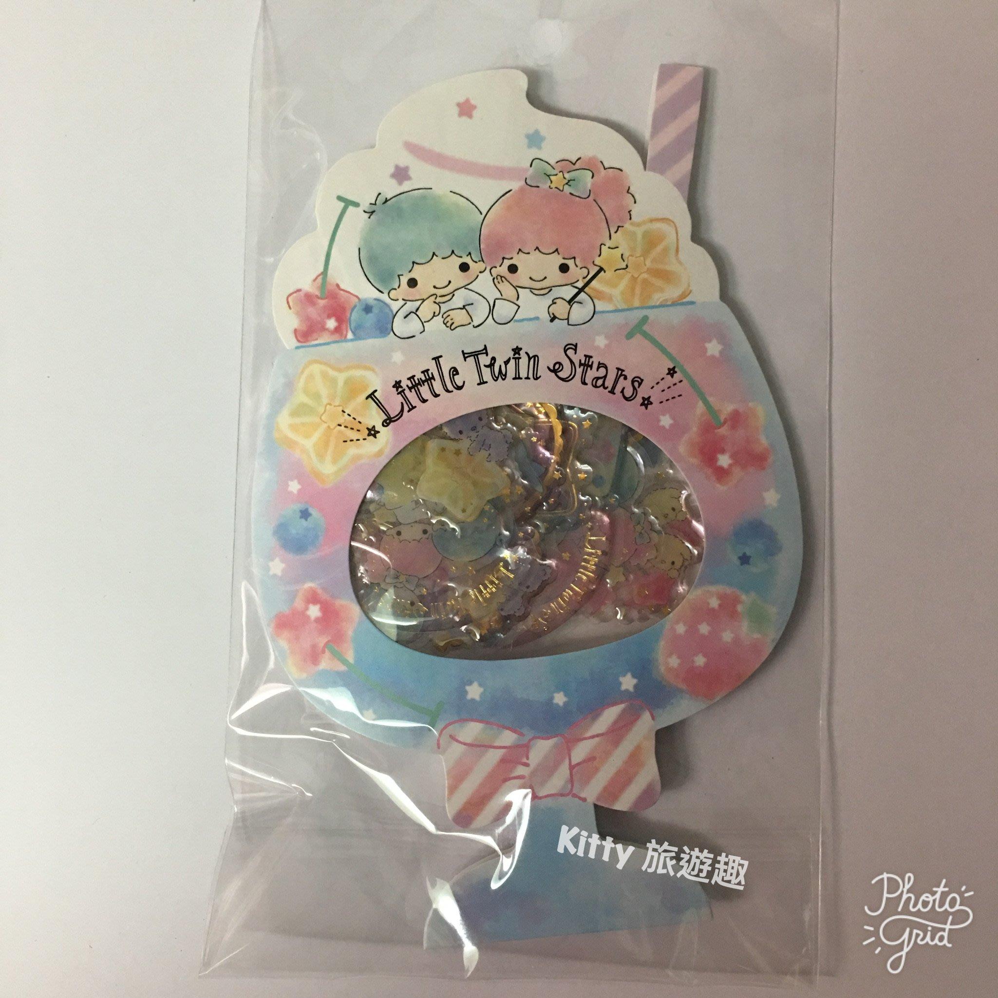 [Kitty 旅遊趣] 新到貨 Kikilala 貼紙 造型貼紙 雙子星 大耳狗 甜點 有兩款