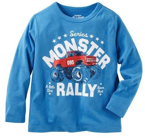 妙寶貝♡Oshkosh 亮藍色越野車長袖上衣(2T/3T/4T),另有Carter、Gymboree、Crazy8