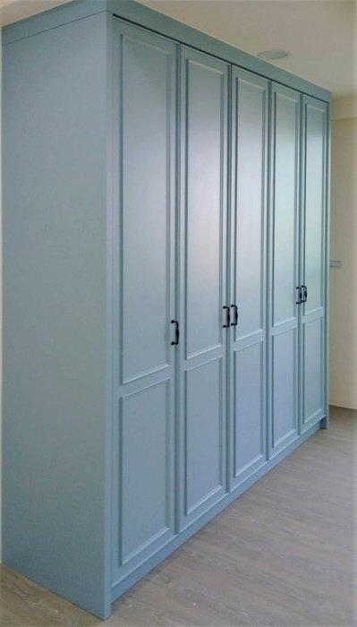 烤漆 淺藍 衣櫃 收納櫃 皆可訂製 【帷圓 定制】