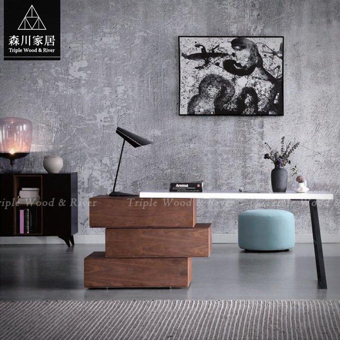 《森川家居》PST-35ST01-現代北歐設計書桌 萬用桌辦公桌收納現代/布沙發皮沙發餐桌椅/美式LOFT品東西IKEA