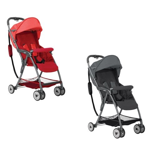 GRACO-超輕量型單向嬰幼兒手推車羽量級FEATHERWEIGHT(艷陽紅/酷樂黑)