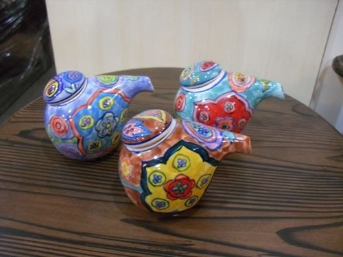 美生活館 印度進口 彩陶 醬油罐 油醋罐 調味罐  (三色可選) 廚房用品 入宅送禮自用皆合宜