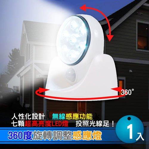 【預購】360度旋轉調整感應燈特價169元 ,7顆共17.5流明超亮度LED壁燈 照明燈 夜燈~最愛網※10