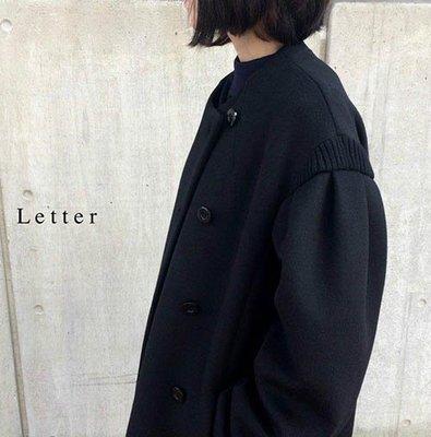  The Dood Life Muveil work メルトンロングコート / 意大利羊毛 廓型拼接袖羊毛大衣