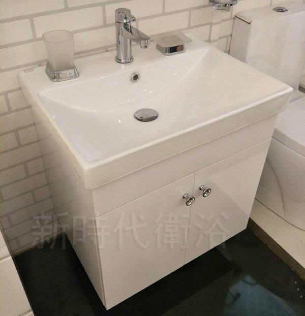 [新時代衛浴] 60cm臉盆浴櫃組,臉盆邊薄內空間大,整體質感好BX-L41