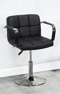 【DH】商品編號AB265-4商品名稱黑皮革雙扶手吧檯椅。座椅可升降41~55CM。台灣製/品質保證。新品特價