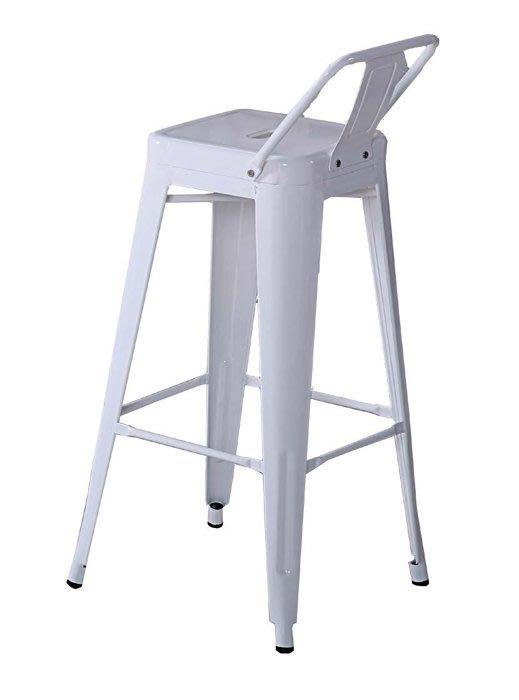 【DH】商品貨號N971-2商品名稱《威恩》加背高吧台椅。備有黑色/白色兩色可選。吧台桌另計。簡約雅緻經典。特價