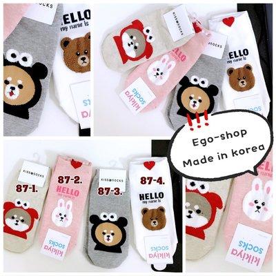 EGO-SHOP正韓國空  運療癒可愛熊熊  兔 襪Q-87
