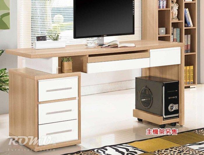 【DH】商品編號415-801-4商品名稱明日5尺木心板雙色造型書桌。時尚新潮流設計。主要地區免運費