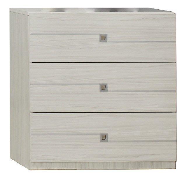 【DH】商品貨號N552-5商品名稱 《克斯理》76CM雪杉白三斗櫃(圖一) 木心板台灣製可訂做另計。簡約雅緻新品特價