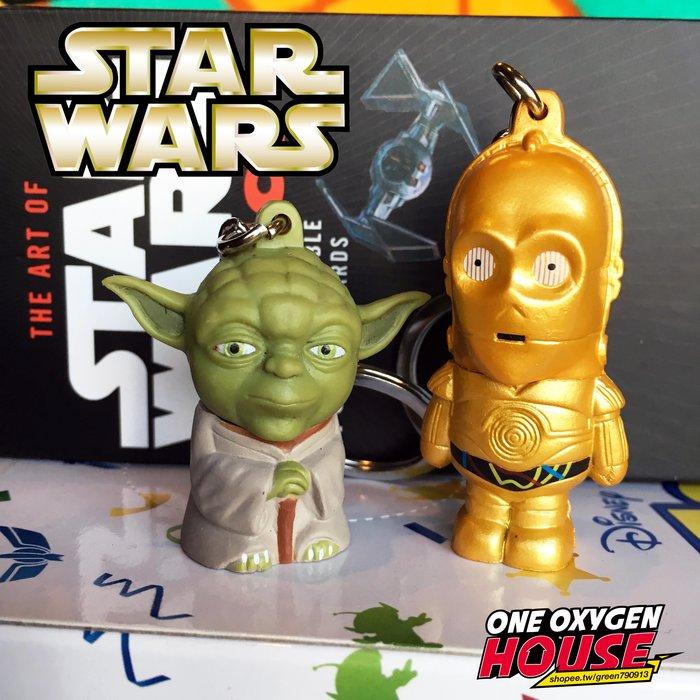 星際大戰 Disney STAR WARS 白兵 黑武士 吊飾 鑰匙圈 尤R2D2 矽膠 玩具 公仔 擺件 Q版