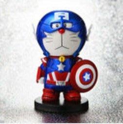 【紫色風鈴2】COS換裝美國隊長手辦哆啦A夢機器貓玩偶公仔動漫周邊批發